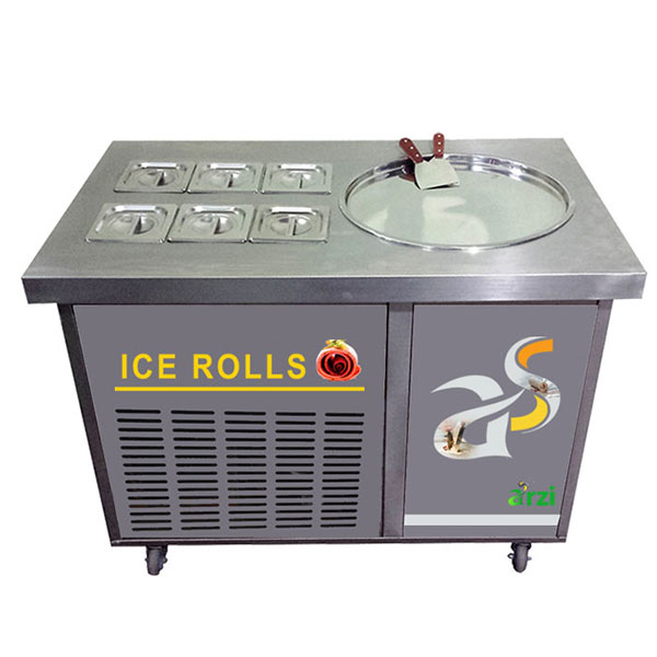 Ice Cream Rolls Ψυχόμενος Πάγκος Ρολών Παγωτού
